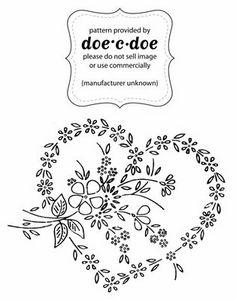 doe-c-doe: thursday = embroidery - Flower heart