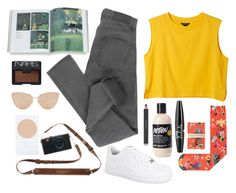 """Jumbled"" by theuncommon ❤ liked on Polyvore featuring Monki, Strathcona, NIKE, Cheap Monday, Estée Lauder, NYX, Cutler and Gross and NARS Cosmetics"