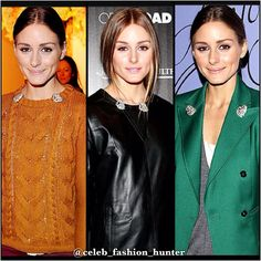 Olivia Palermo knows how to creatively wear the brooches given to her by her mother. She's worn them with everything from a sweater to a leather top and a blazer. @celeb_fashion_hunter