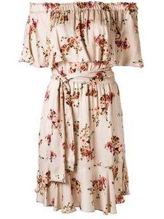 Vestido ombro a ombro floral