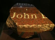 The memorial for the 1993 World Trade Center bombing was destroyed on September 11, 2001. A fragment bearing part of the name of bombing victim John DiGiovanni was the only piece recovered from the wreckage.