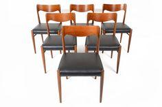 Set of Six Danish Modern Mid Century Rosewood by MidCenturyMobler
