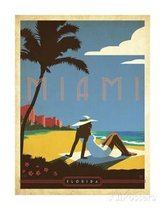 Miami, Florida Art by Anderson Design Group at AllPosters.com