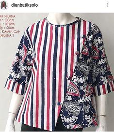 56 Ideas Sewing Patterns Tunic Dress Fabrics Source by veronicortega idea sewing Blouse Batik, Batik Dress, Clothing Patterns, Dress Patterns, Sewing Patterns, African Blouses, Sewing Clothes Women, Batik Fashion, Blouse Models
