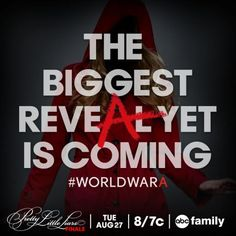 Are you ready? Join Emily, Spencer, Aria, and Hannah for the season 4 finale of Pretty Little Liars at 8/7c tomorrow night on ABC Family! #worldwarA