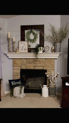 Here is a post related with fireplace ideas. Rustic Decor, Farmhouse Decor, Farmhouse Style, Modern Farmhouse, Rustic Modern, Farmhouse Ideas, Farmhouse Signs, Farmhouse Bench, Cottage Farmhouse