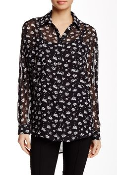 Ro & De - Long Sleeve Button-Up Bust Seam Blouse at Nordstrom Rack. Free Shipping on orders over $100.