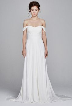 "Brides: Kelly Faetanini - Fall 2017. ""Blossom"" silk French crepe wedding dress, Kelly Faetanini"
