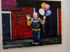 "the ""NORTHAMPTON CLOWN"" . 11""x14"" original painting Jack Larson"