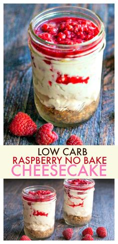 This raspberry no bake cheesecake is a delicious low carb treat that is easy to make.