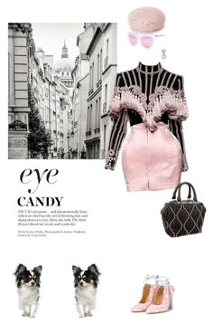 """""""fancy that!"""" by pensivepeacock ❤ liked on Polyvore featuring Liudmila, Balmain, Alexander Wang, Topshop and Bounkit"""