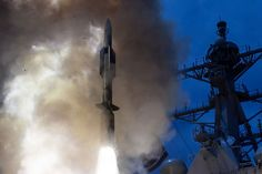 The USS John Paul Jones launches a Standard Missile-6 interceptor on June 19, 2014. (U.S. Navy photo) Do you see the difference between this and the next Pic or is it just me?