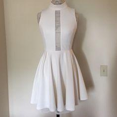 BCBGeneration dress off white Worn once. Size 6 BCBGeneration Dresses Midi