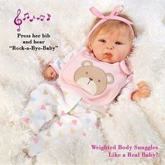 nice Realistic Handmade Baby Doll Girl Newborn Lifelike Vinyl Weighted Alive Reborn - For Sale Check more at http://shipperscentral.com/wp/product/realistic-handmade-baby-doll-girl-newborn-lifelike-vinyl-weighted-alive-reborn-for-sale/