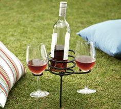 need this! ... great for camping out the front lawn!!!!! :) Picnic Beverage Stake | Pottery Barn