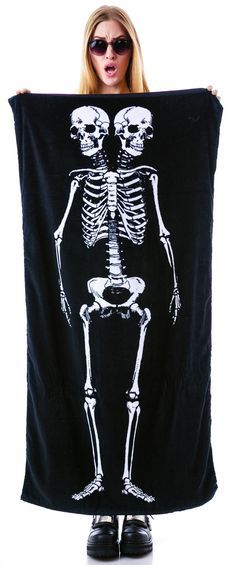 I need this for summer. Sourpuss Clothing Skeleton Beach Towel | Dolls Kill