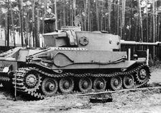 The VK 45.01 (P)  Porsche Tiger prototype during trials testing