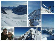 Jungfraujoch 1.1.2015 Petra und Pascal