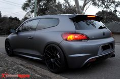 Vinyl-wrapped VW Scirocco R hatchback in gunmetal grey. Vinyl Wrap Colors, Truck Paint Jobs, Matte Black Wrap, Subaru, Matte Cars, Vw Corrado, Vw Scirocco, Car Colors, Import Cars