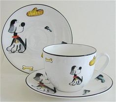 Cats, Dogs, Tigers, Monkeys and Giraffes Tea for One Sets