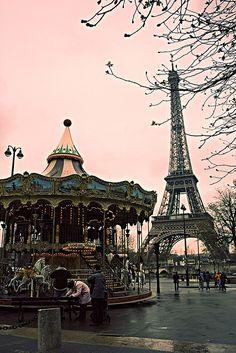 Paris! Eiffel Tower and carousel