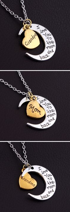 Kids I Love You So Much Pendant Necklace from Grandpa Grandma ThisYear Granddaughter Birthday Gifts Happy Birthday Gifts for Little Girl