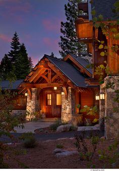 Modern mountain home custom-built by NSM Construction in Truckee, CA.