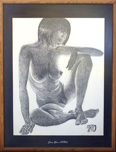 """""""Contre-jour"""" Mine de plomb sur papier, 65 x 50  par Jean-Yves ARO66"""