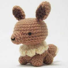 Amigurumi Pokemon Mini Eevee - FREE Crochet Pattern / Tutorial