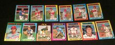 LOT OF 13 DIFFERENT 1975 TOPPS ALL EX++NM CONDITION MURCER BOONE EVANS MAY UNSER #TOPPS #NewYorkMets