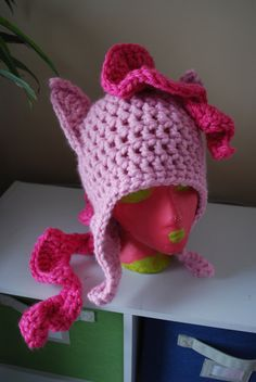 My Little Pony Friendship is Magic PINKIE PIE crochet hat. $30.00, via Etsy.