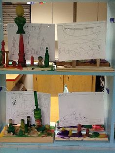 Wood Sculptures and Representational Drawing
