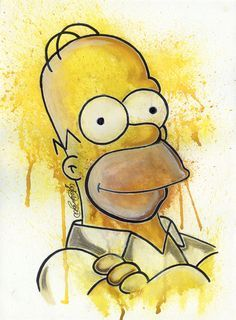 Here is a simple painting/drawing of Homer Simpson from the TV show 'The Simpsons'. Simpsons Drawings, Simpsons Art, Simpson Wallpaper Iphone, Cartoon Wallpaper, Homer Simpson, Wallpaper World, Dope Art, Easy Paintings, Painting & Drawing
