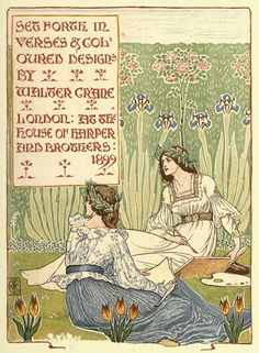 A Floral fantasy In An Old English Garden by Walter Crane (1899)