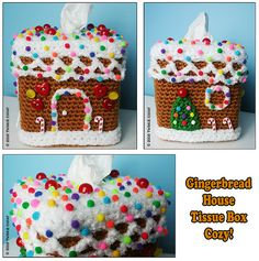 Gingerbread House Tissue Cozy 1 by TWiNKiE CHAN, via Flickr