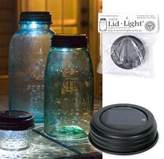 The hottest item of 2011! Sold in boxes of 4. Fits any mason jar. Use these lights outside or inside. Water-resistant solar cell, replaceable and rechargeable battery, and bright LED...