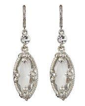 clear ouval drop earrings