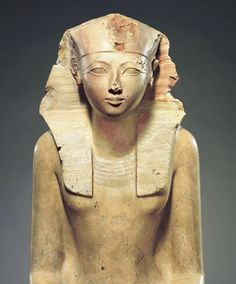 ";No one rebels against me in all lands. All foreign lands are my subjects. He placed my border at the limits of heaven."" Hatshepsut, Karnak (trans. Lichtheim). Hatshepsut : Hatshepsut (r. c. 1479–1458 BC), king of Egypt. of Dynasty 18, some 1400 years before Cleopatra. Her lifeHatshepsut was the daughter of king Thutmose I and his wife Ahmose. married her half-brother,  'A History of Ancient Egypt' (2010)  can be viewed at The Metropolitan Museum of Art, New York."