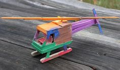 Helicopter - Homemade Popsicle Stick Crafts, http://hative.com/homemade-popsicle-stick-crafts/,