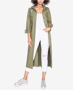 Rachel Rachel Roy Cotton Embroidered Duster Jacket, Created for Macy's