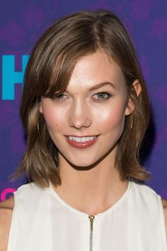 Which Bob Haircut Is Right For YOU? #refinery29  http://www.refinery29.com/bob-lob-haircuts#slide-8  Blunt bobs are way more versatile than you think, and they work best when you let your natural texture be free. Even Karlie Kloss' grown-out bangs look like an intentional style when paired with soft, flippy waves....