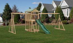 Wood Swing Set