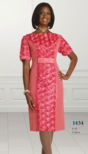 Style : CH1434-C-IH Sizes : 8 10 12 14 16 18  Colors : Coral ( 1pc Designer Chancelle Dress ) Regular Price : $174 Our Price : $124 www.firstladyboutique.net