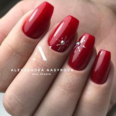 Best 12 30 Amazing Natural Summer Square Nails Design For Short Nails – Page Xmas Nails, Holiday Nails, Red Nails, Christmas Nails, Nail Pink, Orange Nail, Christmas Christmas, Square Nail Designs, Short Nail Designs