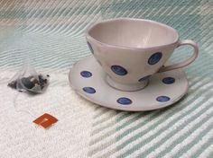Handpainted Polka Dot Teacup and Saucer Teacup, Sally, Polka Dots, Sew, Hand Painted, Tableware, Ebay, Tea Cup, Dinnerware