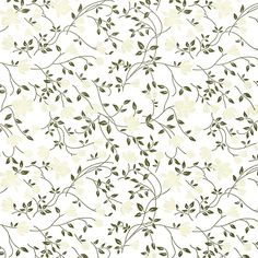 Letterpress Decorative Papers - Floral Vine in Taupe & Brown