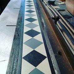 #RDB205 border for our client Lordship Flooring Company. #marmoleum #border #design #debruyns #debruyn #flooring