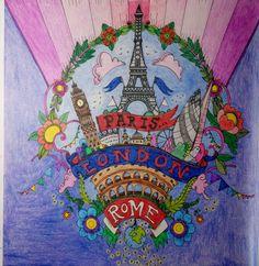 Colouring Escape to Wonderland Paris London Rome