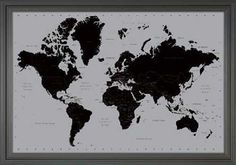 World Map Contemporary