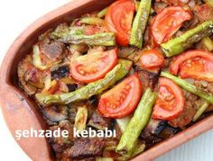Şehzade kebabı, Amasya yöresine ait bir et yemeği. Turkish Recipes, Ethnic Recipes, Kebab, Homemade Beauty Products, Vegetable Pizza, Green Beans, Entrees, Main Dishes, Food And Drink